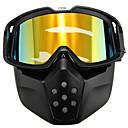 povoljno Sigurnost-motocikl kaciga žuta leća odvojivi naočale modularna maska lice štit