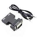 halpa USB-HDMI 1.4 sovitinkaapeli, HDMI 1.4 että VGA / 3,5 mm: n äänentoisto sovitinkaapeli Uros - Naaras 1080P Lyhyt (alle 20 cm)
