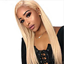 cheap Human Hair Wigs-Remy Human Hair Lace Front Wig Brazilian Hair Natural Straight Blonde Wig Asymmetrical 130% Density Fashionable Design Soft Sexy Lady Cool Comfortable Blonde Women's Short Human Hair Lace Wig PERFE