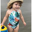 זול בגדי ים לבנות-בגדי ים ללא שרוולים פרחוני בנות ילדים