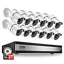preiswerte Badarmaturen-zosi® 16ch 1080p Überwachungskamerasystem mit 12 2.0mp CCTV-Überwachungskamera für den Außen- und Innenbereich mit 100ft langer Nachtsicht