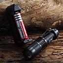 رخيصةأون المصابيح اليدوية وفوانيس الإضاءة للتخييم-LED Flashlights Cree® XM-L T6 1 بواعث 1600 lm ضد الماء Adjustable Focus Camping / Hiking / Caving Everyday Use أخضر