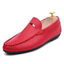 זול נעלי בד ומוקסינים לגברים-בגדי ריקוד גברים נעלי נוחות PU אביב יום יומי נעליים ללא שרוכים נושם לבן / שחור / אדום