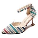 ราคาถูก รองเท้าส้นสูงผู้หญิง-สำหรับผู้หญิง ฝ้าย ฤดูใบไม้ผลิ ไม่เป็นทางการ รองเท้าส้นสูง ส้นลูกแมว สีเหลือง / ฟ้า / ลายบล็อคสี