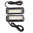 זול אורות אזהרה-2pcs מכונית נורות תאורה 2 W 4 LED אורות אזהרה עבור אוניברסלי / Volkswagen / Toyota גנרל מוטורס כל השנים