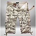 povoljno Muške duge i kratke hlače-Muškarci Vojni Veći konfekcijski brojevi Dnevno Chinos Hlače - kamuflaža Svjetlosmeđ Vojska Green Žutomrk 38 42 44