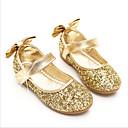 povoljno Kids' Flats-Djevojčice Udobne cipele / Obuća za male djeveruše PU Ravne cipele Dijete (9m-4ys) / Mala djeca (4-7s) Zlato / Srebro Proljeće & Jesen