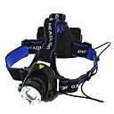 preiswerte Hundekleidung-Stirnlampen Fahrradlicht LED LED 1 Sender 1800 lm 3 Beleuchtungsmodus Zoomable-, Wasserfest, einstellbarer Fokus Camping / Wandern / Erkundungen, Für den täglichen Einsatz, Radsport Schwarz / Blau