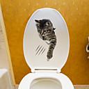 levne Samolepky na zeď-Samolepky na toaletu - Zvířecí nálepky na zeď Zvířata Obývací pokoj / Ložnice / Koupelna