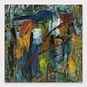 זול ציורי נוף-ציור שמן צבוע-Hang מצויר ביד - מופשט מודרני כלול מסגרת פנימית