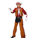 levne Filmové a TV kostýmy-Westworld Západní kovboj Kovbojské kostýmy Chlapecké Dětské Úbory Aktivní Vánoce Halloween Karneval Festival / Svátek Polyester Vybavení Kávová Třásně