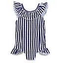 זול בגדי ים לבנות-בגדי ים ללא שרוולים פסים בנות ילדים