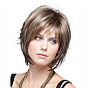 cheap Synthetic Capless Wigs-Human Hair Capless Wigs Loose Curl Style Short Bob Half Capless Wig Brown Light Brown Synthetic Hair 30 inch Women's Women Brown Wig Short Natural Wigs / Yes