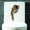 رخيصةأون ملصقات الحائط-لواصق المرحاض - ملصقات الحائط الحيوان حيوانات غرفة الجلوس / غرفة النوم / دورة المياه