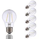 abordables Ampoules à Filament LED-6pcs gmy a17 led edison ampoule 2w led ampoule à incandescence équivalente 21w avec e26 base 2700k pour chambre salon maison décoratif