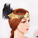 cheap Historical & Vintage Costumes-The Great Gatsby 1920s The Great Gatsby Costume Women's Flapper Headband Head Jewelry Black Vintage Cosplay Party Prom Festival