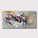 Недорогие Абстрактные картины-Hang-роспись маслом Ручная роспись - Абстракция Современный Modern Включите внутренний каркас