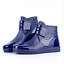 cheap Men's Boots-Men's Comfort Shoes PVC(Polyvinyl chloride) Spring Boots Booties / Ankle Boots Black / Blue