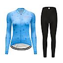 ieftine Pantaloni Cycling Scurți-FirtySnow Pentru femei Manșon Lung Jerseu Cycling cu Mâneci Albastru Desene Animate Bicicletă Costume Respirabil Confortabil la umezeală Uscare rapidă Sport Poliester Desene Animate Ciclism montan