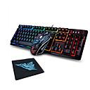 halpa muis toetsenbord combo-LITBest 31K USB-langallinen Hiiren näppäimistö Combo Color Gradient / taustavalaistu / Roiskeenkestävän ergonominen näppäimistö Loistava Gaming Mouse / ergonominen hiiri 1600 dpi
