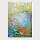 levne Abstraktní malby-Hang-malované olejomalba Ručně malované - Abstraktní Krajina Současný styl Moderní Obsahovat vnitřní rám