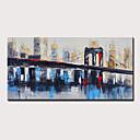 abordables Peintures Abstraites-Peinture à l'huile Hang-peint Peint à la main - Abstrait Paysage Moderne Sans cadre intérieur