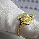 זול טבעת מפית-קלסי מתכת עגול טבעת מפית אחיד פרח לוח קישוטים 12 pcs
