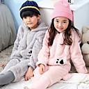 halpa Koiran vaatteet-Lasten Huppari Kigurumi-pyjama Karhu Pyjamahaalarit Coral Velve Harmaa / Pinkki Cosplay varten Pojat ja tytöt Animal Sleepwear Sarjakuva Festivaali / loma Puvut