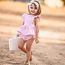 abordables Conjuntos de Ropa para Bebés-Bebé Chica Activo / Básico Diario Estampado Sin Mangas Largo Algodón Conjunto de Ropa Rosa