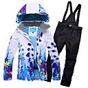 povoljno Skijaška i snowboard odjeća-RIVIYELE Žene Skijaška jakna i hlače Skijanje Camping & planinarenje Zimski sportovi POLY Chinlon Silk Cloth Trenirka Skijaška odjeća / Zima