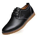 baratos Oxfords Masculinos-Homens Sapatos de couro Couro Outono Oxfords Preto / Marron