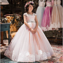 رخيصةأون Lolita فساتين-فستان بدون كم ورد للفتيات أطفال