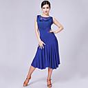 preiswerte Kleidung für Lateinamerikanischen Tanz-Latein-Tanz Kleider Damen Leistung Milchfieber Spitze / Quaste / Kombination Ärmellos Hoch Kleid