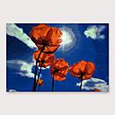 povoljno Apstraktno slikarstvo-Hang oslikana uljanim bojama Ručno oslikana - Cvjetni / Botanički Moderna Uključi Unutarnji okvir
