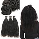 economico Onde di capelli veri-3 pacchetti Brasiliano Kinky Curly capelli naturali Remy Extension di capelli umani 8-22 pollice Tessiture capelli umani Soffice Migliore qualità Nuovo arrivo Estensioni dei capelli umani Per donna