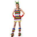 halpa Aikuisten asut-primitiivinen Cosplay-Asut Aikuisten Nainen Cosplay Halloween Halloween Karnevaali Masquerade Festivaali / loma Polyesteria Sateenkaari Nainen Karnevaalipuvut Monivärinen