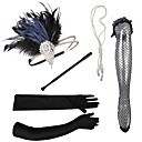 cheap Party Headpieces-Feathers Headbands / Headdress / Headpiece with Rhinestone / Crystal / Feather 5 PCS Party / Evening / Masquerade Headpiece