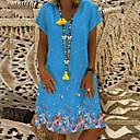 cheap Men's Necklaces-Women's Basic Sheath Dress - Geometric White Black Yellow XXXL XXXXL XXXXXL