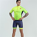 cheap Triathlon Clothing-BOESTALK Men's Short Sleeve Cycling Jersey with Shorts - Green Bike Clothing Suit Moisture Wicking Quick Dry Ultraviolet Resistant Sports Spandex Fashion Mountain Bike MTB Road Bike Cycling Clothing