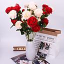 Недорогие Искусственные цвет-Искусственные Цветы 5 Филиал Классический Сценический реквизит европейский Розы Вечные цветы Букеты на стол