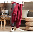 halpa Juoksuvaatteet-Miesten Haaremi Kudotut housut Urheilu Leopardikuvio Pants Alaosat Hölkkä Pluskoko Activewear Nopea kuivuminen Joustamaton Löysä