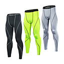 cheap Cycling Jersey & Shorts / Pants Sets-21Grams Men's Compression Pants Running Tights Gym Leggings Grey Black / Green White+Gray Sports Spandex Compression Clothing Tights Leggings Fitness Gym Workout Exercise Plus Size Activewear Quick