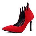 ราคาถูก รองเท้าส้นสูงผู้หญิง-สำหรับผู้หญิง Synthetics ฤดูร้อนฤดูใบไม้ผลิ รองเท้าส้นสูง ส้น Stiletto Pointed Toe สีดำ / แดง / พรรคและเย็น