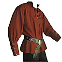 cheap Historical & Vintage Costumes-Knight Ritter Renaissance Ancient Rome Costume Men's Masquerade Brown / Green / Blue Vintage Cosplay Halloween Masquerade Long Sleeve Bishop Sleeve V Wire