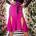 זול הלבשה לריקודים לטיניים-ריקוד לטיני חלקים תחתונים בגדי ריקוד נשים הצגה ספנדקס סלסולים / סרט גומי גבוה חצאיות