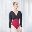 povoljno Odjeća za balet-Balet Leotards Žene Trening / Seksi blagdanski kostimi Pamuk / Elastan / Vicose Nabori Dugih rukava Top