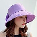 abordables Sacs d'Ecole-Femme Polyester Le style mignon Capeline Chapeau de soleil Couleur Pleine Beige Violet Jaune Eté Toutes les Saisons