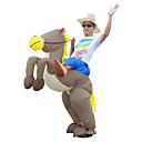halpa Aikuisten asut-Ratsastus Dinosaurus Cosplay-Asut Aikuisten Mies Cosplay Halloween Halloween Karnevaali Masquerade Festivaali / loma Teryleeni Ruskea Mies Nainen Karnevaalipuvut Patchwork