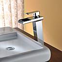 halpa Kylpyhuoneen lavuaarihanat-Kylpyhuone Sink hana - Vesiputous / LED Kromi Vapaasti seisova Yksi kahva kaksi reikääBath Taps / Ruostumaton teräs