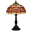 tanie Oświetlenie Tiffany-Prosty Dekoracyjna Lampa stołowa Na Sypialnia Metal 220v